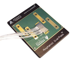 The micro-LinkOVER solderless compression mount connector from Amphenol Ardent Concepts supports high speed 56G and 112G PAM4 links