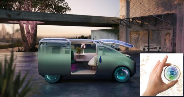 Mini concept car is configured with a token