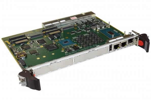 6U CompactPCI cPCI board has dual XMC/PMC slots and dual front Ethernet