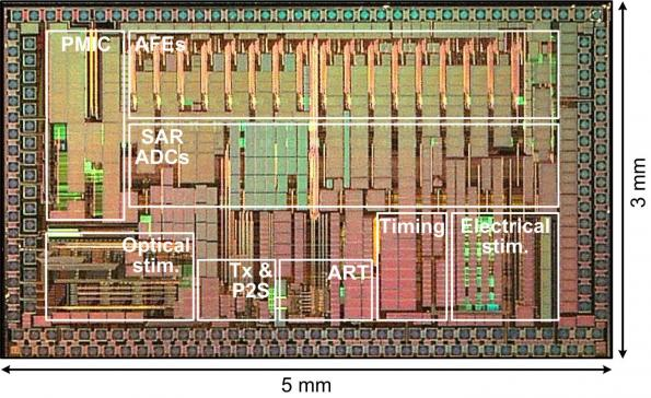 Wireless power for implantable brain chip