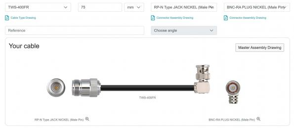 Digi-Key announces Taoglas custom RF cable builder