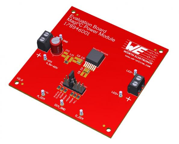 Dimmable LED power evaluation board