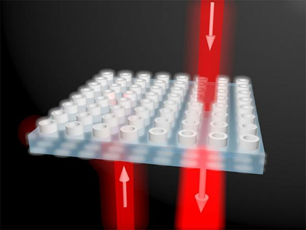 One-way light transmission. Image courtesy of Xuchen Wang / Aalto University.