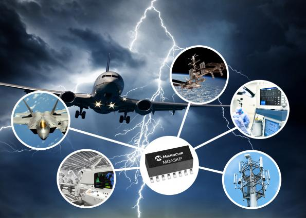 High reliability TVS diode arrays from Microchip protect aircraft, space systems and critical infrastructure from surges, spikes and electrostatic events