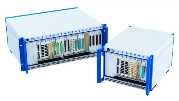 Two PXI Express chassis give maximum flexibility