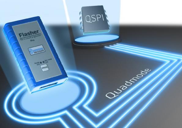 Quad mode QSPI programming cuts production time