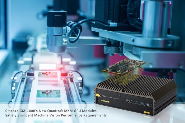 Cincoze GPU modules target high-performance machine vision