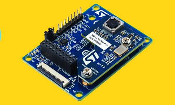 Edge AI development kit for computer vision on a microcontroller