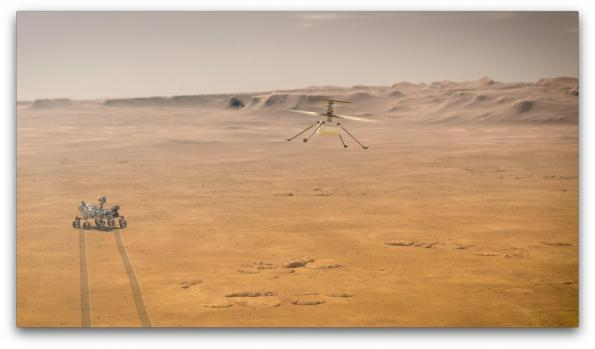 Mars helicopter readies for takeoff