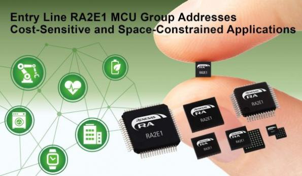 Entry-line MCUs for cost-sensitive, space-constrained apps