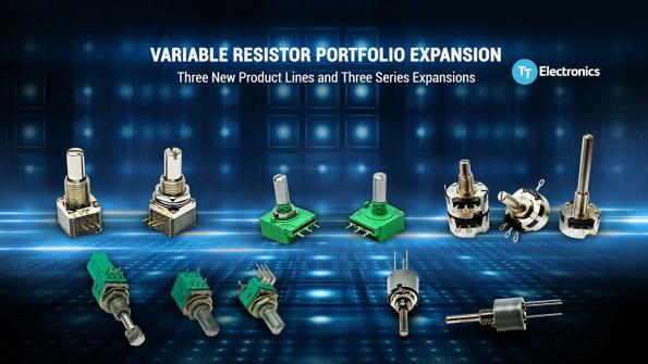 TT Electronics expands variable resistor portfolio