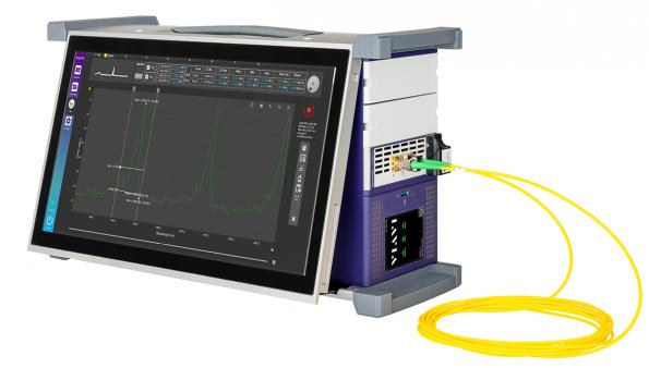Optical spectrum analysis module for lab and manufacturing