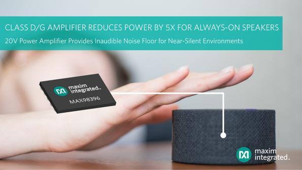 Lowest-noise, class D/G amplifier offers low quiescent power