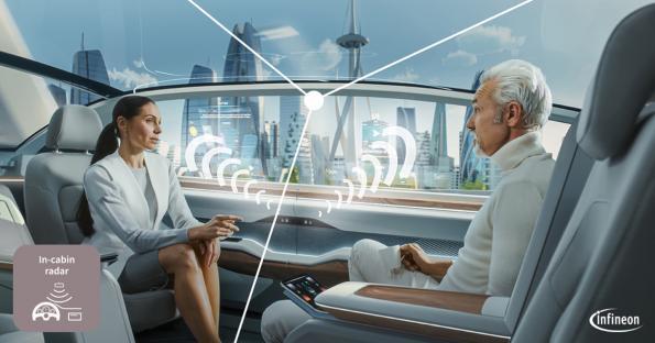 60 GHz radar sensors and MCUs target in-cabin monitoring