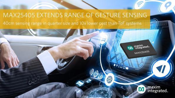 IR-based dynamic gesture sensor doubles range