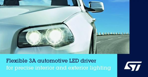 Highly integrated automotive LED driver delivers low BOM