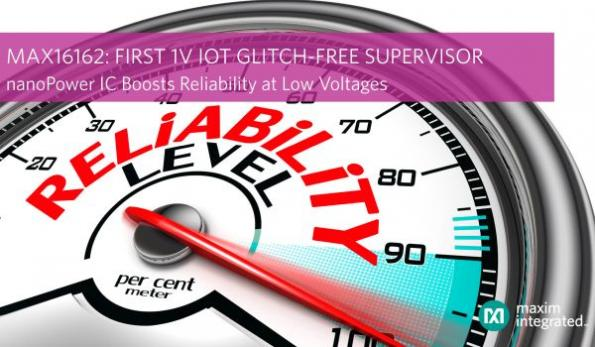 Supervisory IC offers glitch-free power-up for 1V IoT systems
