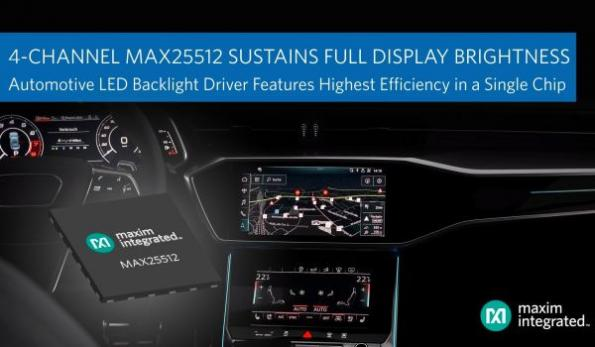 Automotive backlight driver sustains brightness even during cold crank