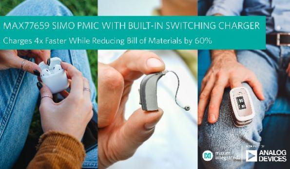Tiny PMIC charges wearables, hearables faster