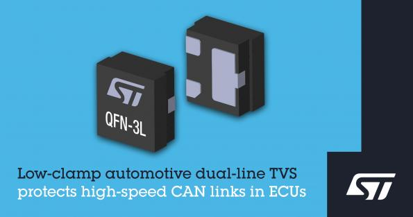 Low-capacitance TVS chip offers protection for fast automotive interfaces