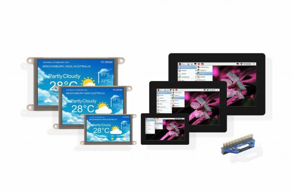 Touchscreen display support for the Raspberry Pi family