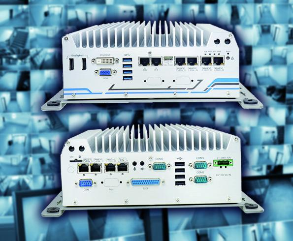 Mobile video controller for eight PoE cameras