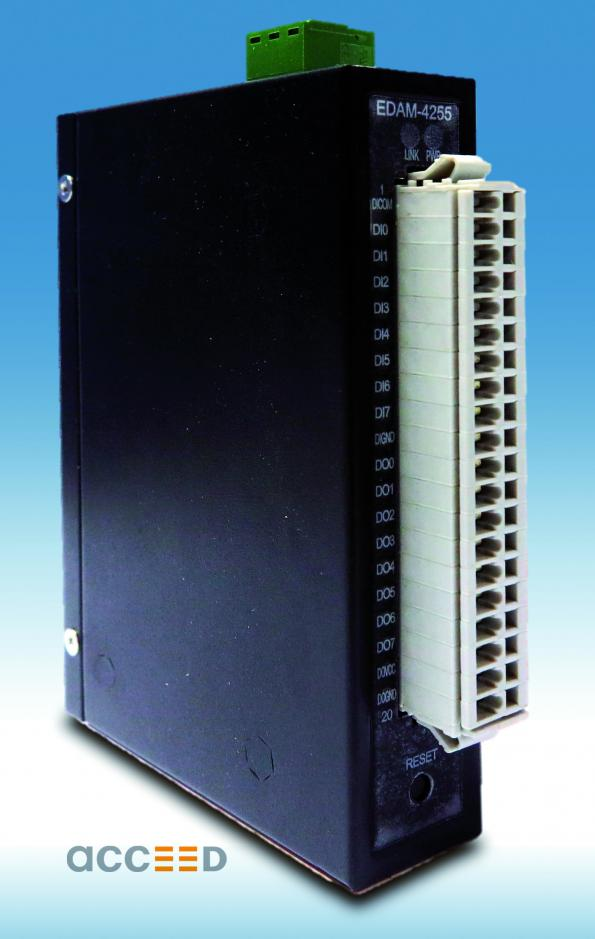 acceed's EDAM-4200 series I/O modules integrate the most common I/O types in a single module.