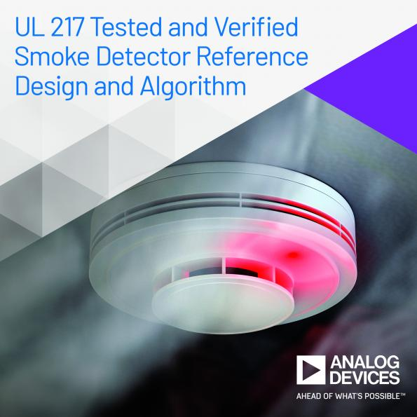 Analog Devices has introduced a smoke detector reference design and algorithm to allow the prototyping of small form factor, low power, smoke detector designs.
