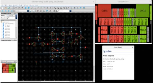 Free analog layout preview software from Pulsic