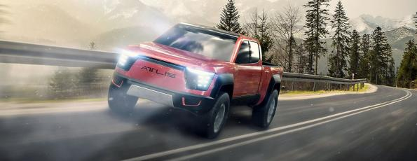Electric pickup charges battery in 13 minutes
