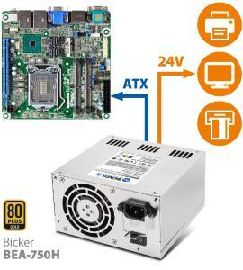 Simultaneous power for mainboard and 24V peripherals