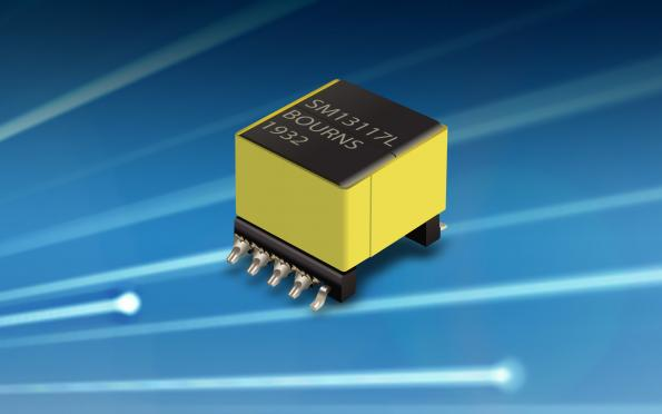 Bourns SM13117EL PoE flyback transformer supports IEEE 802.3 af-Compliant, integrated PoE devices and Pulse Width Modulation controller applications
