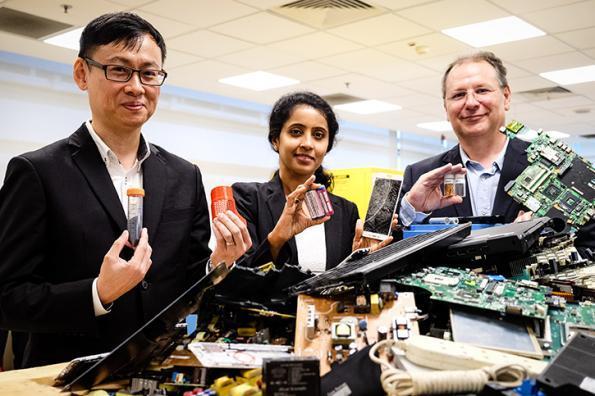 Laboratoire franco-singapourien de gestion des déchets électroniques