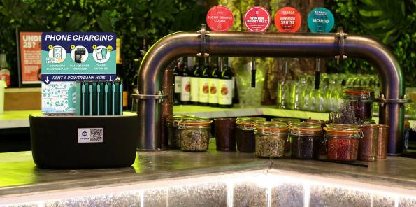 ChargedUp has effectively created the UK's largest phone charging network with 1000 6000mAh power bank vending machines in bars and cafes nationwide.