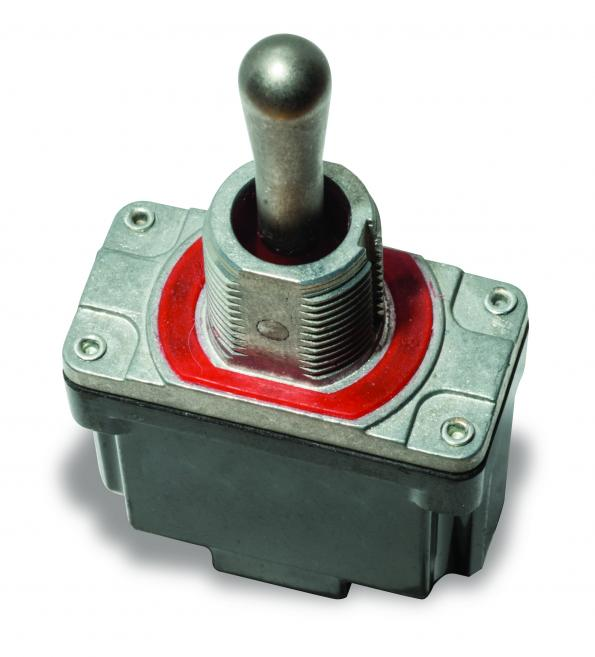 Sealed power toggle switches for harsh environments in distribution