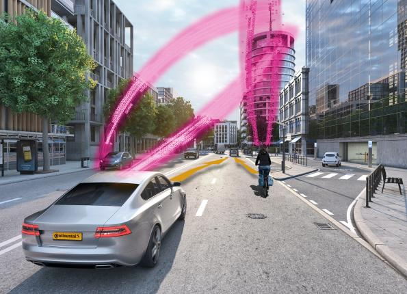 Networked collision warning protects cyclists, pedestrians