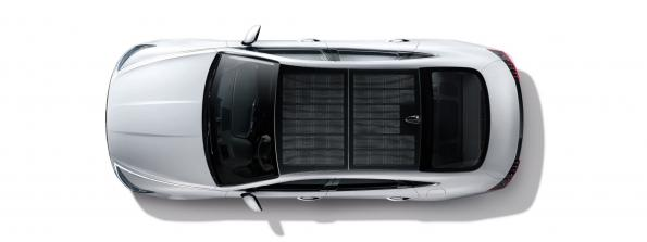 30 to 60 per cent of a car's battery can be charged via the solar roof