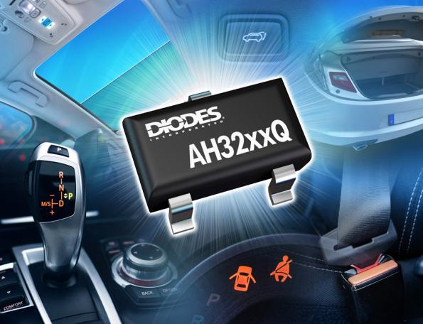 Diodes Incorporated has introduced a new range of automotive-compliant, two-wire unipolar (AH323xQ/4xQ) and latch (AH327xQ/8xQ) switch ICs.