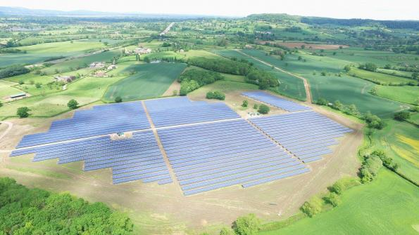 Wirsol energy solar park at Upper Wick Gloucestershire