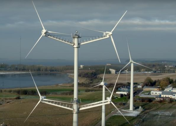 European researchers have modelled the fluid dynamics of multi-rotor wind turbines, and how they interact in wind farms, showing a clear advantage for a wind turbine with four rotors