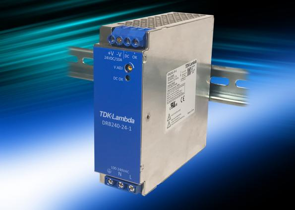 Narrow 120W and 240W DIN rail supplies are 93% efficient