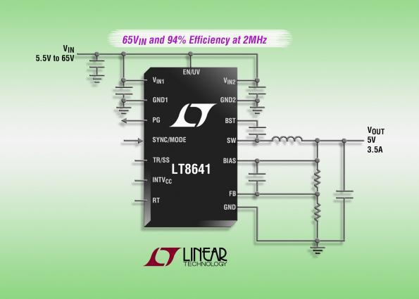 Régulateur Silent Switcher, abaisseur synchrone, 65 V, 3,5 A