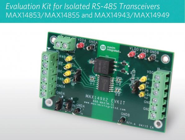 Transpondeurs RS-485 isolés à transformateur driver et LDO intégrés