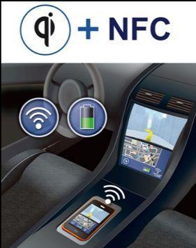 Solution de recharge sans fil qualifiée automobile avec communication NFC