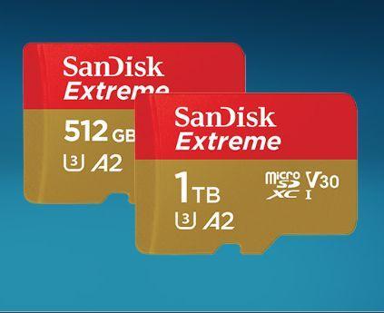 La carte microSD 1 To la plus rapide du marché