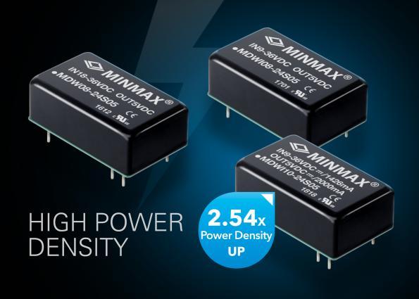 Modules convertisseurs DC-DC à densité de puissance élevée