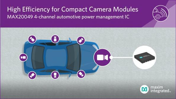 PMIC automobile 4 canaux pour modules caméras embarqués