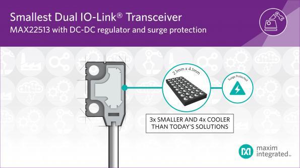 Double transpondeur IO-Link miniature haut rendement
