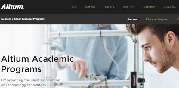 Altium lance Altium Academic Programs
