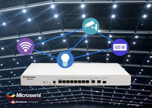 Commutateur Microchip 8 ports compatible avec le standard PoE IEEE 802.3bt